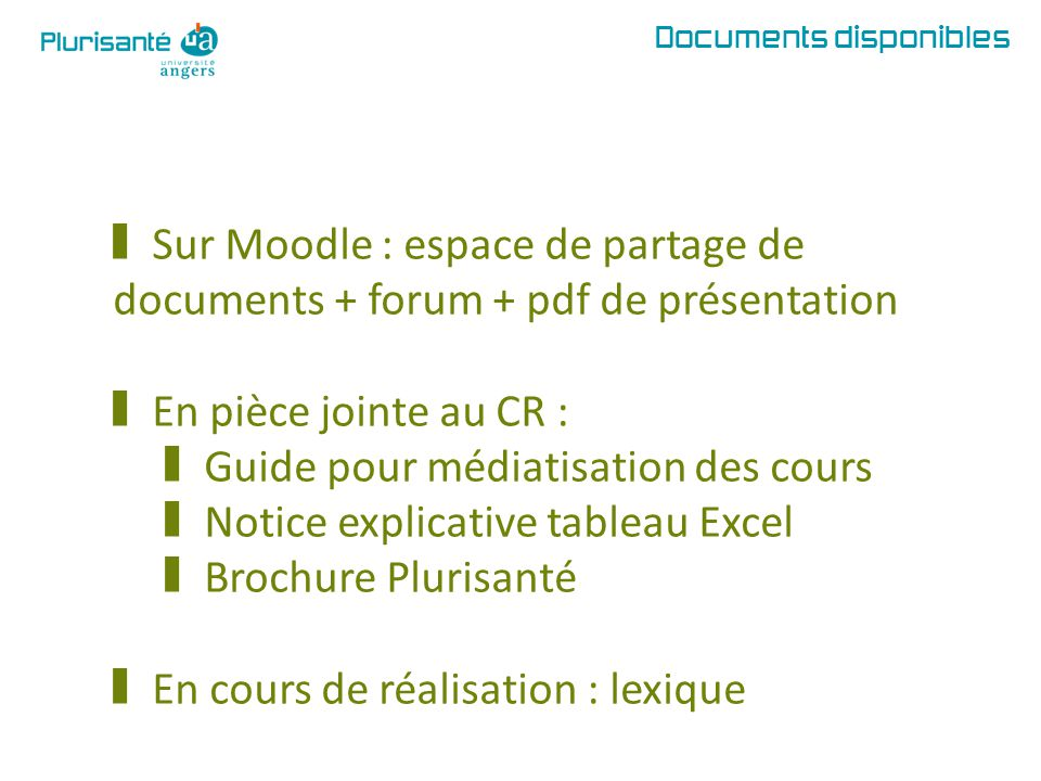 Guide pour médiatisation des cours Notice explicative tableau Excel
