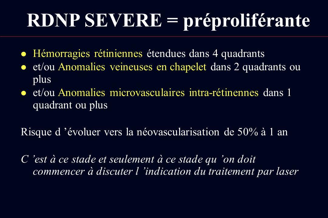 RDNP SEVERE = préproliférante