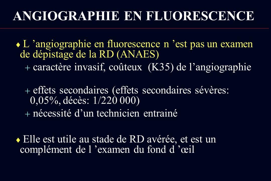 ANGIOGRAPHIE EN FLUORESCENCE