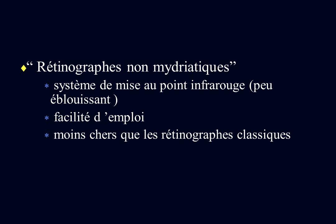 Rétinographes non mydriatiques