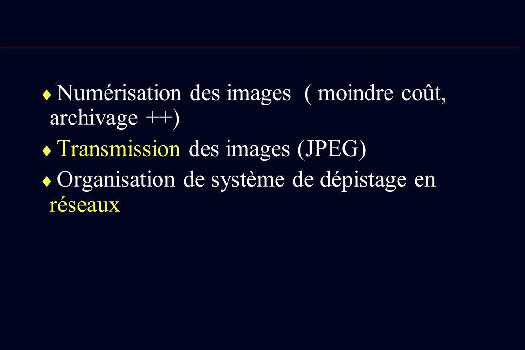 Numérisation des images ( moindre coût, archivage ++)