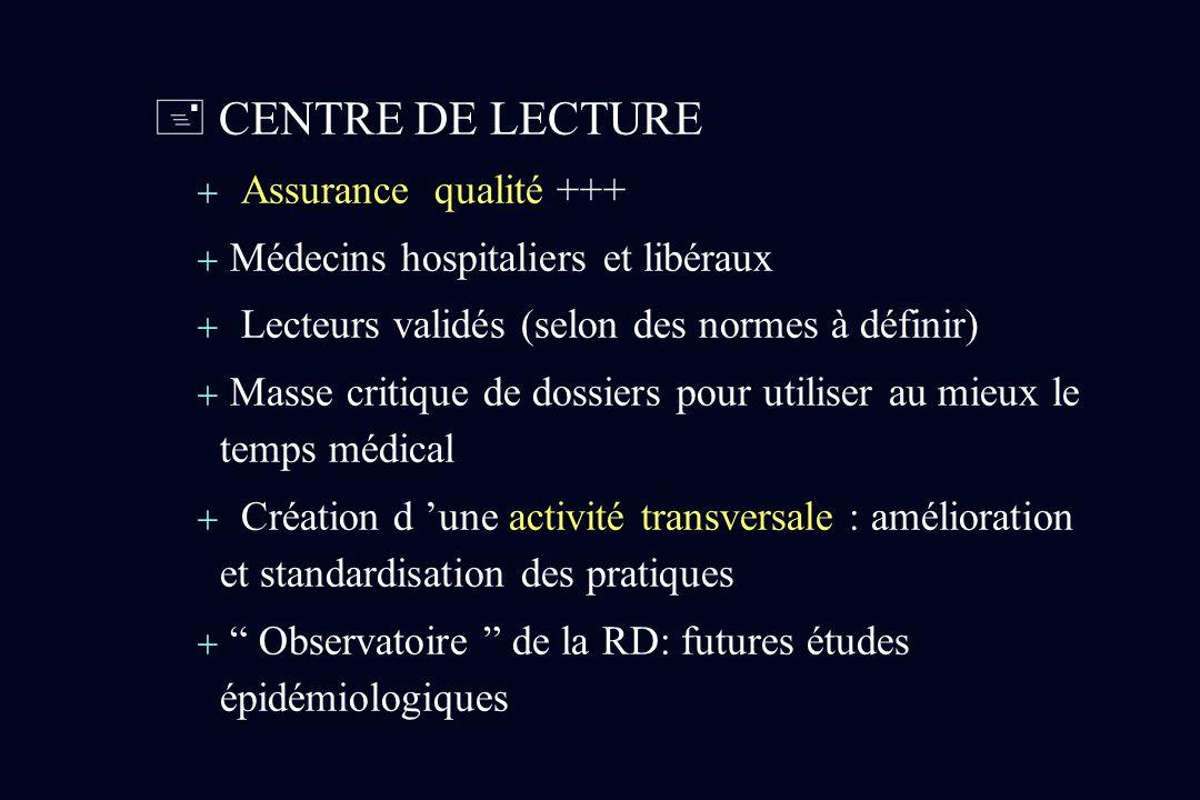  CENTRE DE LECTURE Assurance qualité +++
