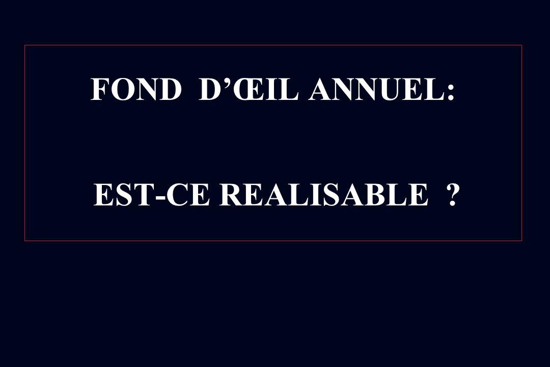 FOND D'ŒIL ANNUEL: EST-CE REALISABLE