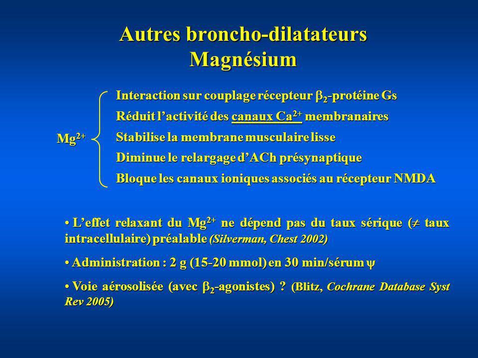 Autres broncho-dilatateurs Magnésium