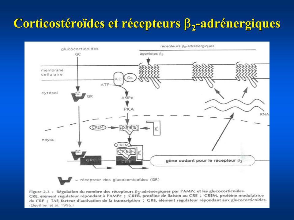 Corticostéroïdes et récepteurs 2-adrénergiques
