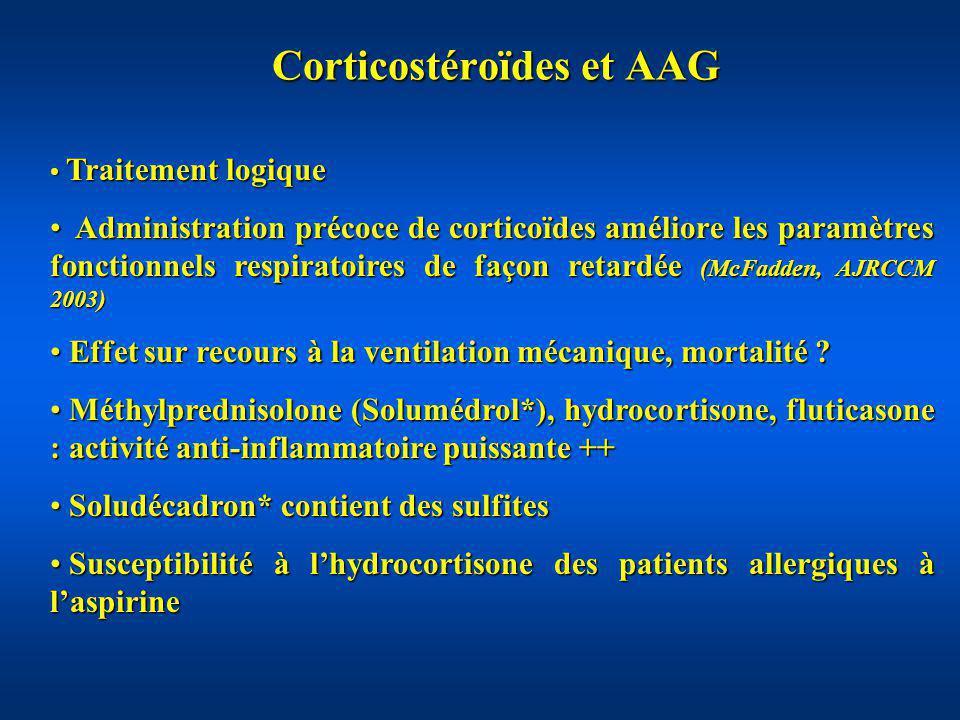 Corticostéroïdes et AAG