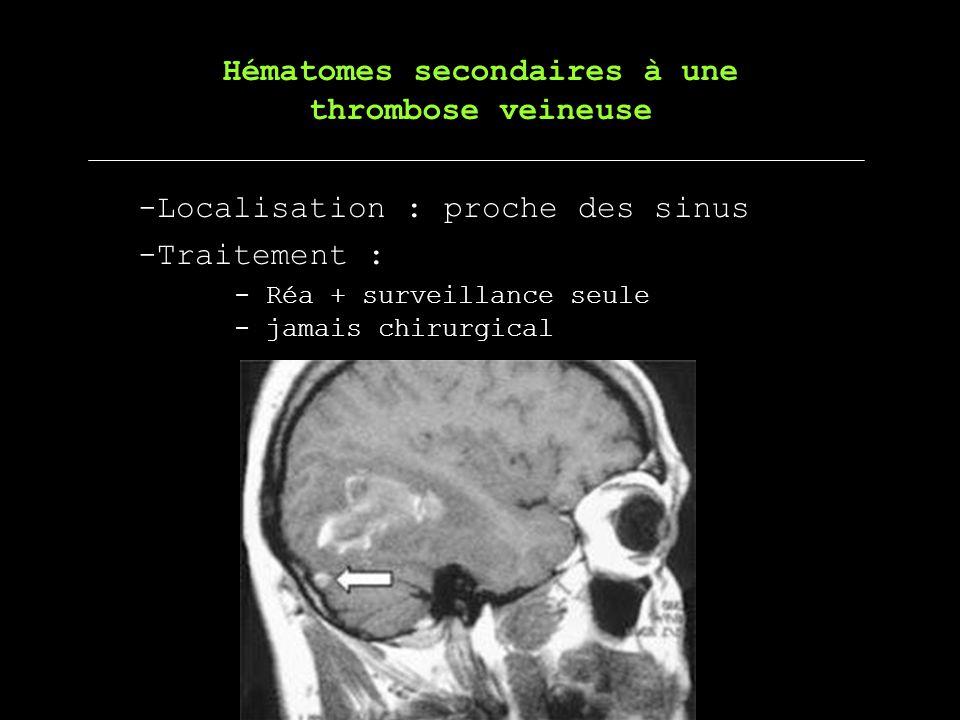 Hématomes secondaires à une