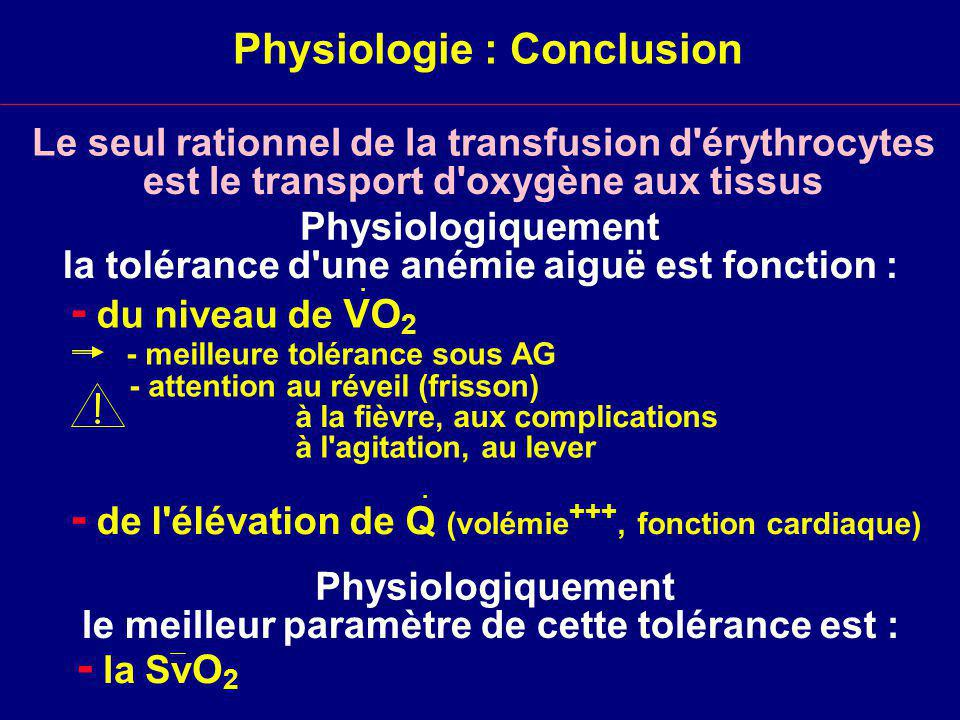 Physiologie : Conclusion