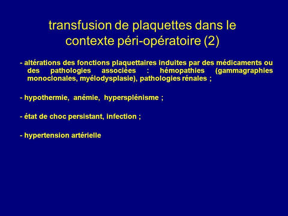 transfusion de plaquettes dans le contexte péri-opératoire (2)