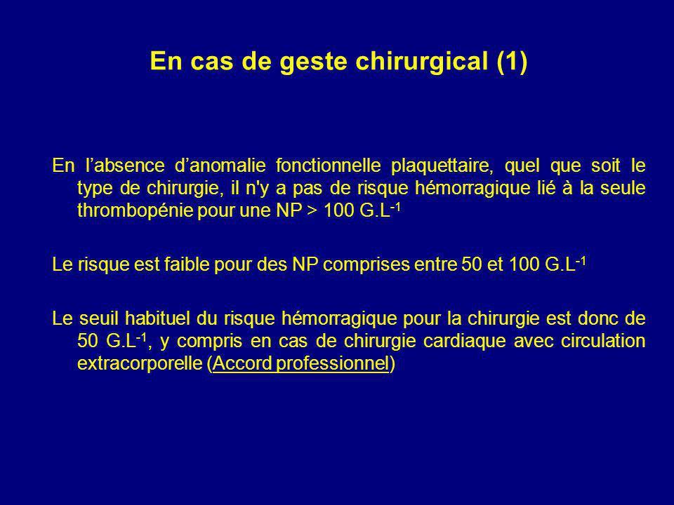 En cas de geste chirurgical (1)