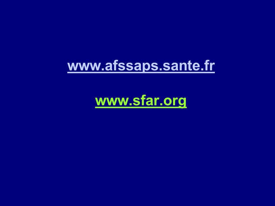 www.afssaps.sante.fr www.sfar.org