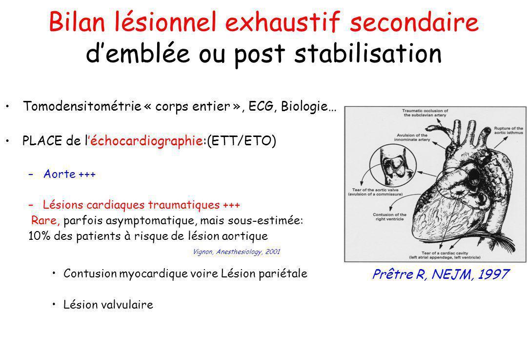 Bilan lésionnel exhaustif secondaire d'emblée ou post stabilisation