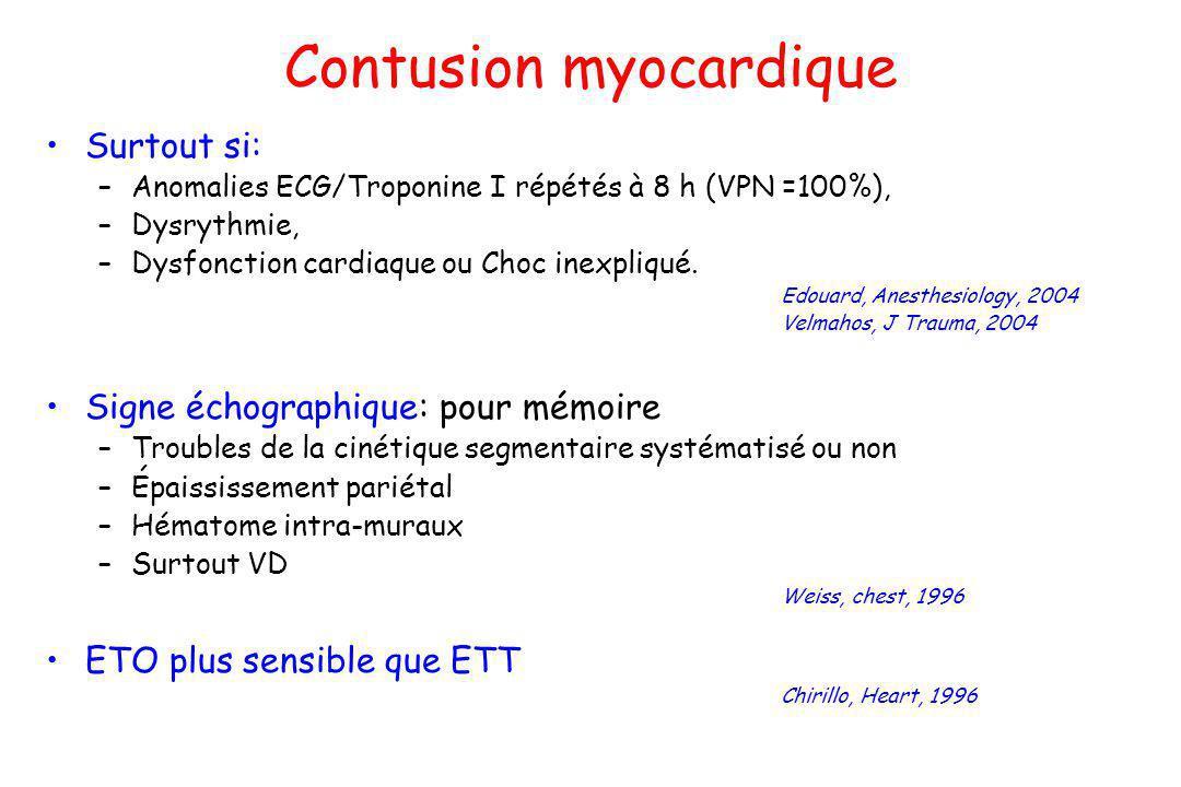 Contusion myocardique