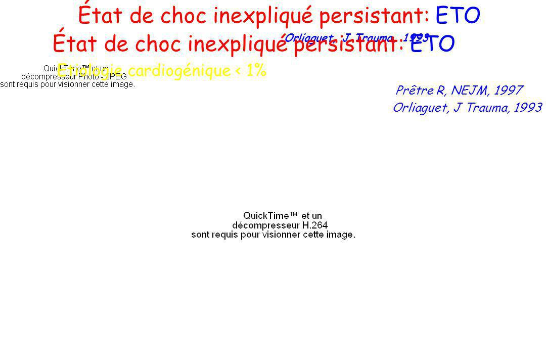 État de choc inexpliqué persistant: ETO