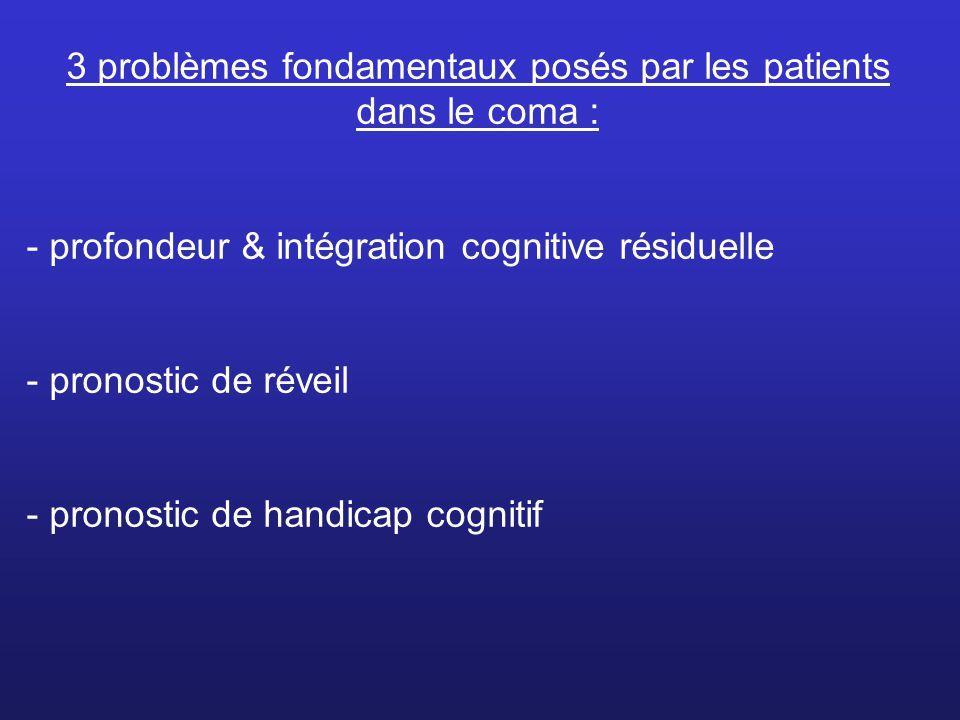 3 problèmes fondamentaux posés par les patients dans le coma :