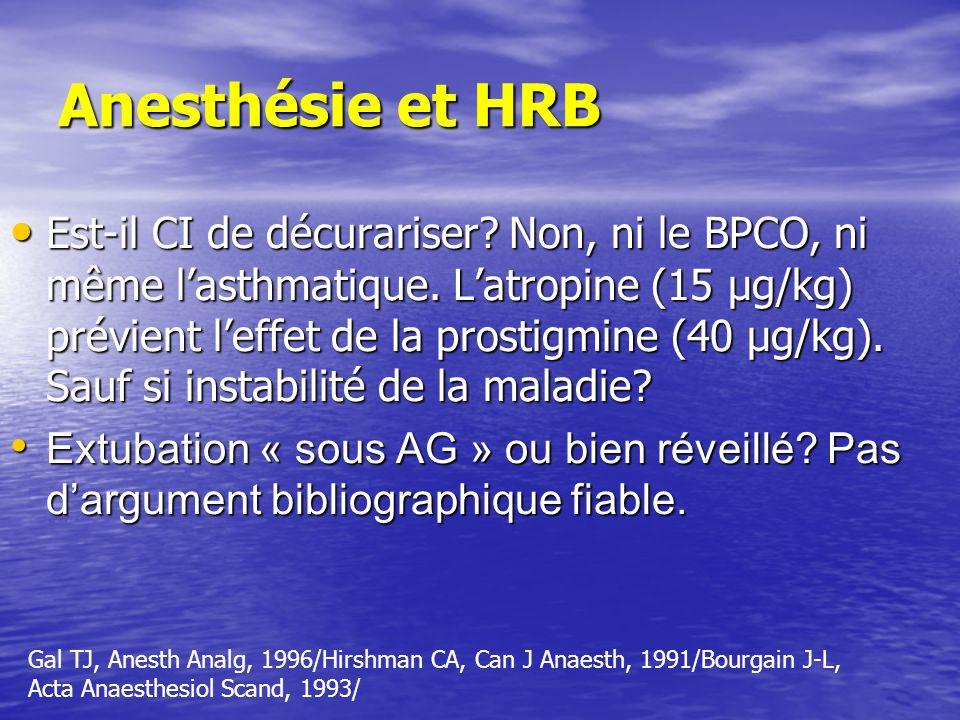 Anesthésie et HRB