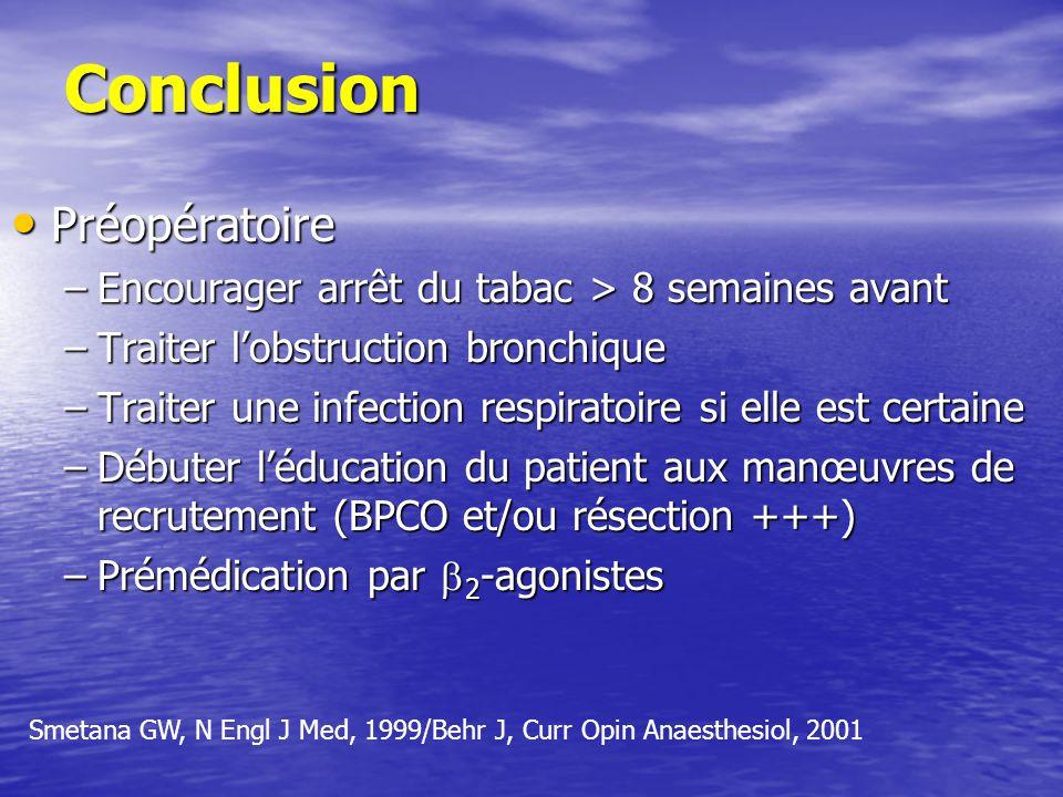 Conclusion Préopératoire