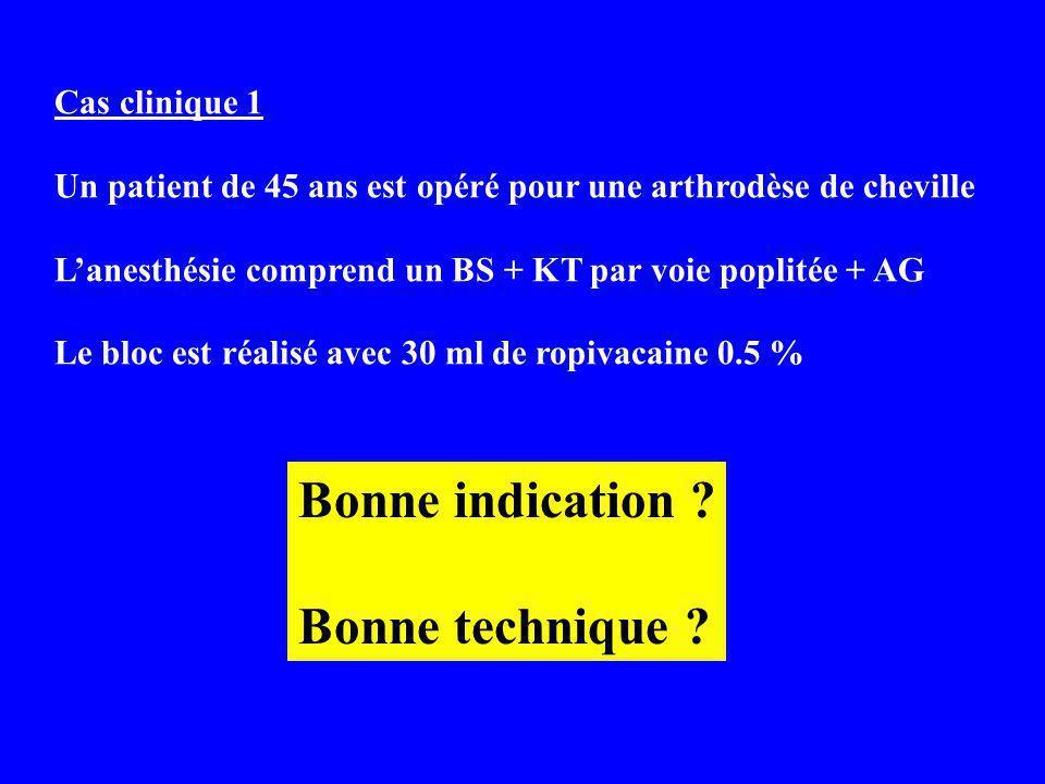 Bonne indication Bonne technique Cas clinique 1