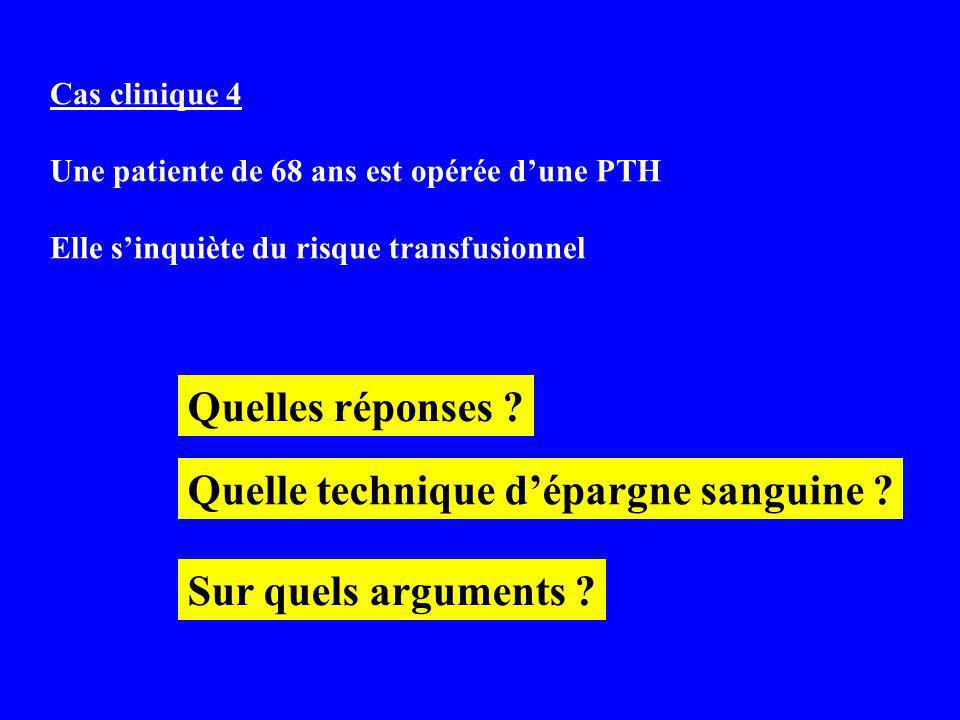 Quelle technique d'épargne sanguine