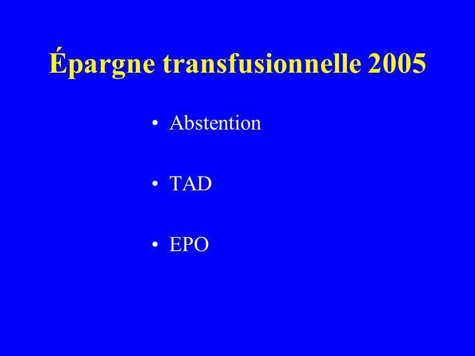 Épargne transfusionnelle 2005