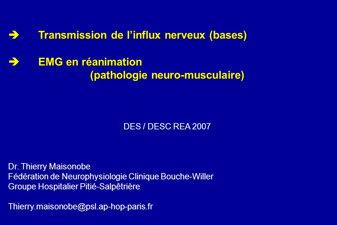 (pathologie neuro-musculaire)