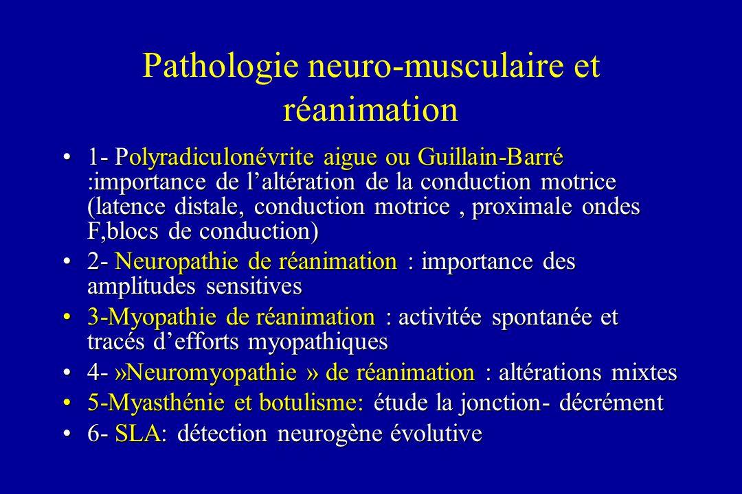 Pathologie neuro-musculaire et réanimation