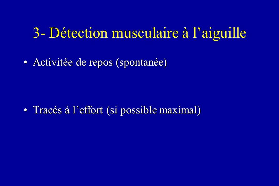 3- Détection musculaire à l'aiguille