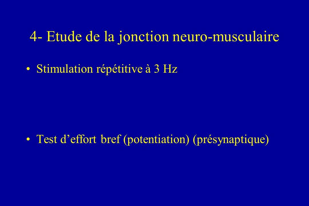 4- Etude de la jonction neuro-musculaire