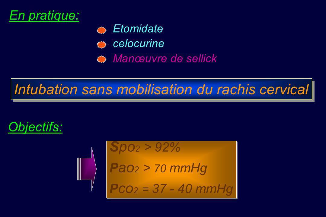Intubation sans mobilisation du rachis cervical