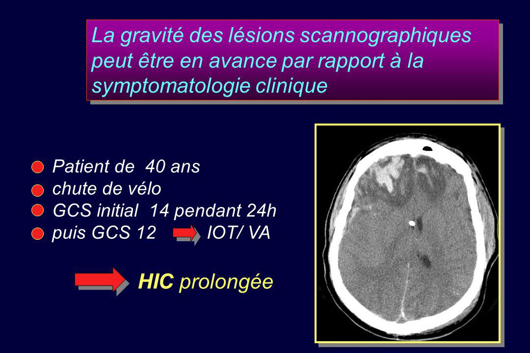 La gravité des lésions scannographiques