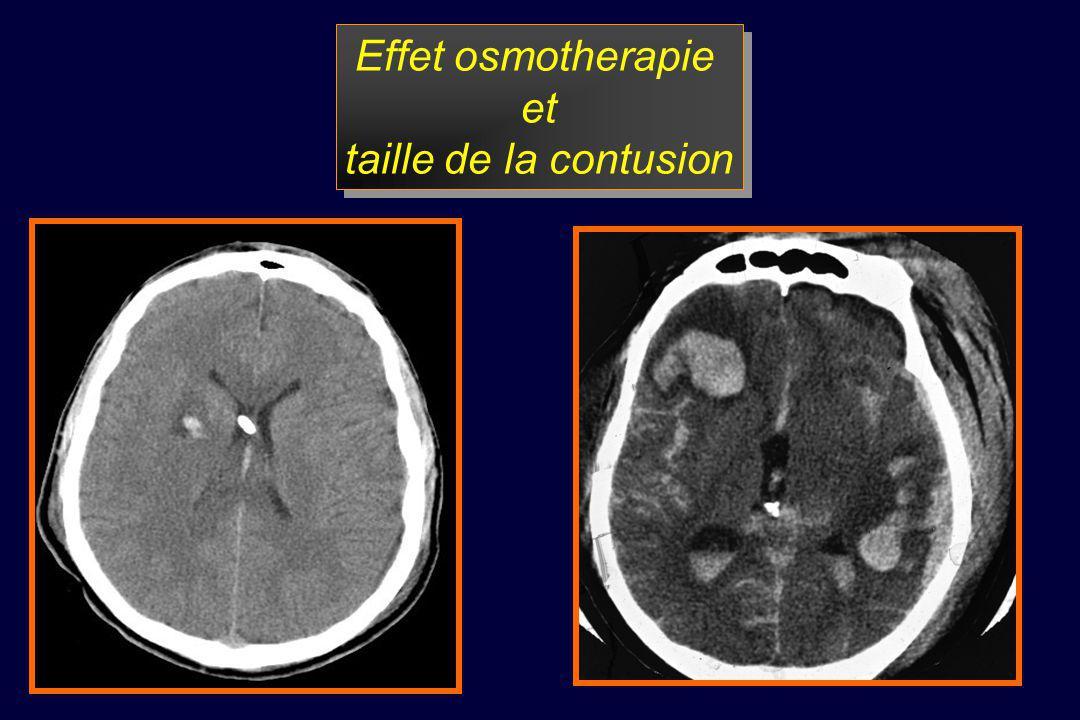 Effet osmotherapie et taille de la contusion
