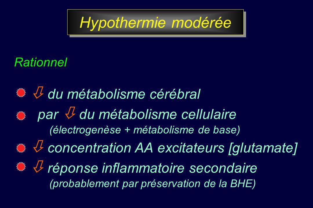 Hypothermie modérée  du métabolisme cérébral