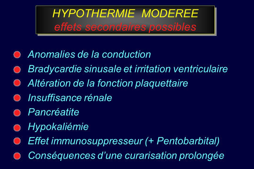 HYPOTHERMIE MODEREE effets secondaires possibles