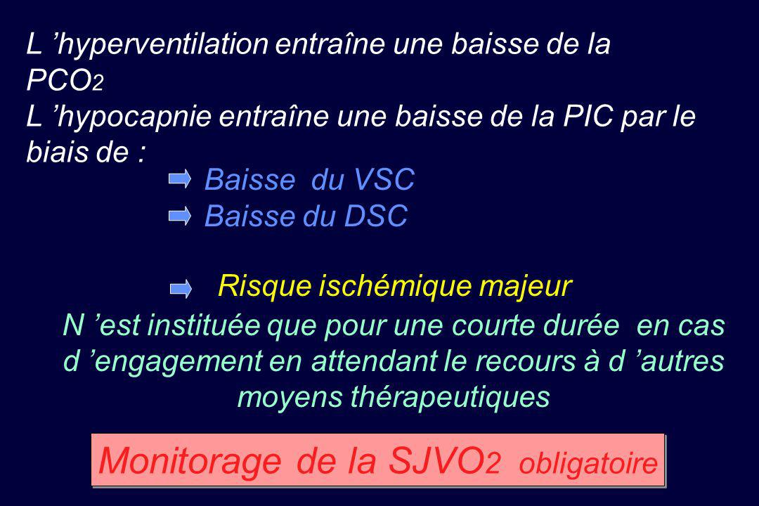 Monitorage de la SJVO2 obligatoire
