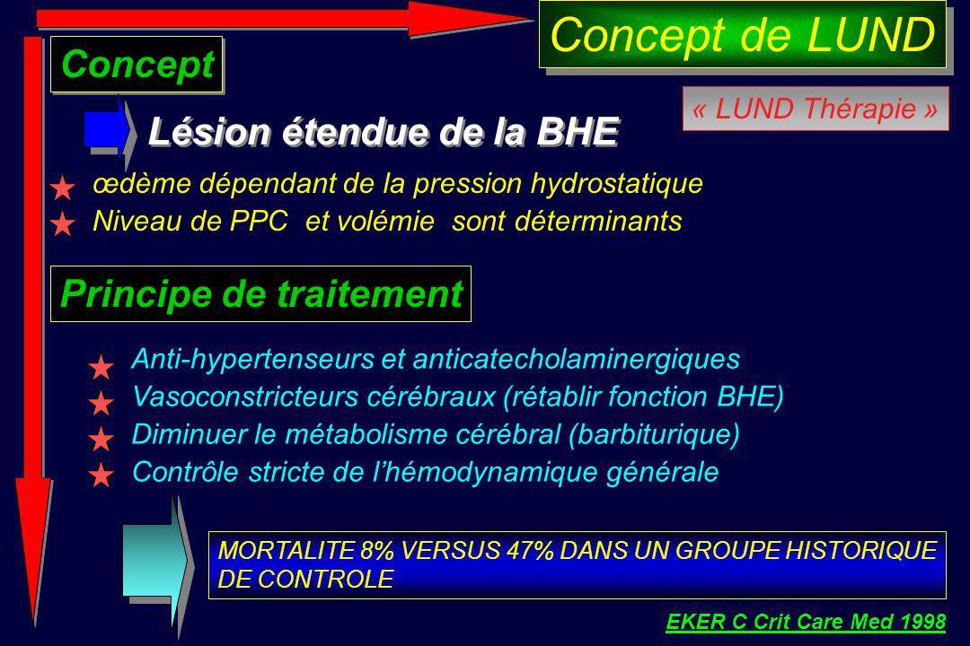 Concept de LUND Concept Lésion étendue de la BHE