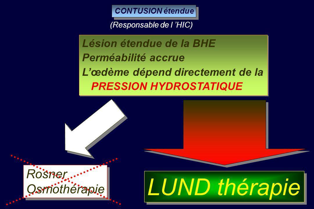 LUND thérapie Rosner Osmothérapie Lésion étendue de la BHE