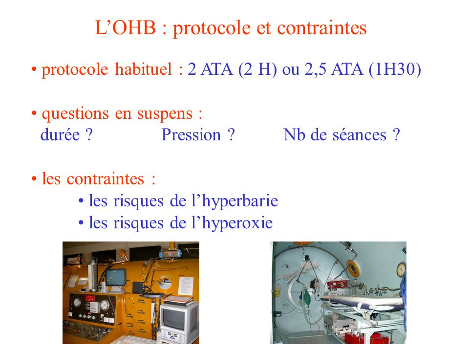 L'OHB : protocole et contraintes