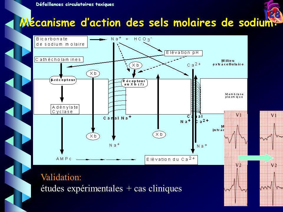 Mécanisme d'action des sels molaires de sodium: