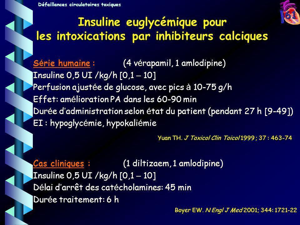 Insuline euglycémique pour les intoxications par inhibiteurs calciques