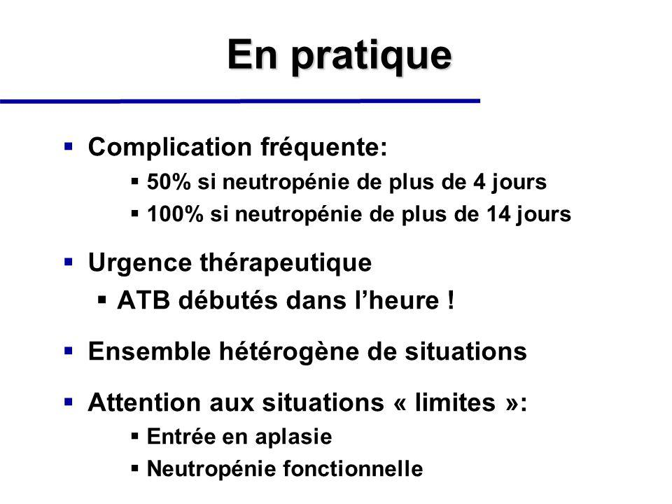 En pratique Complication fréquente: Urgence thérapeutique