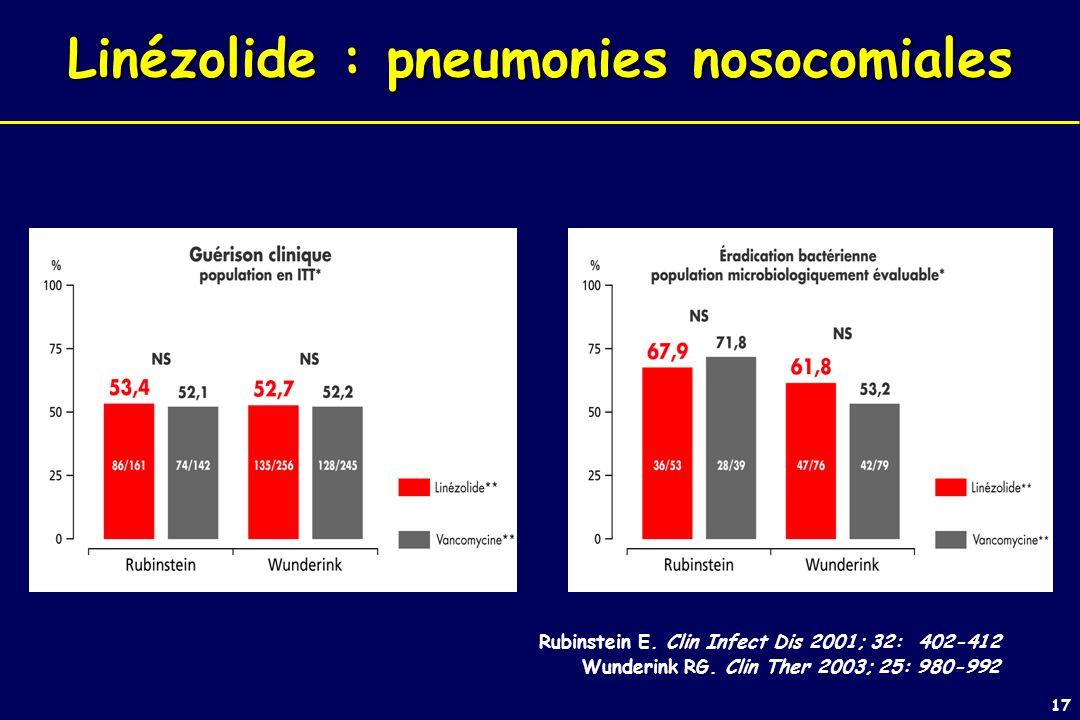 Linézolide : pneumonies nosocomiales