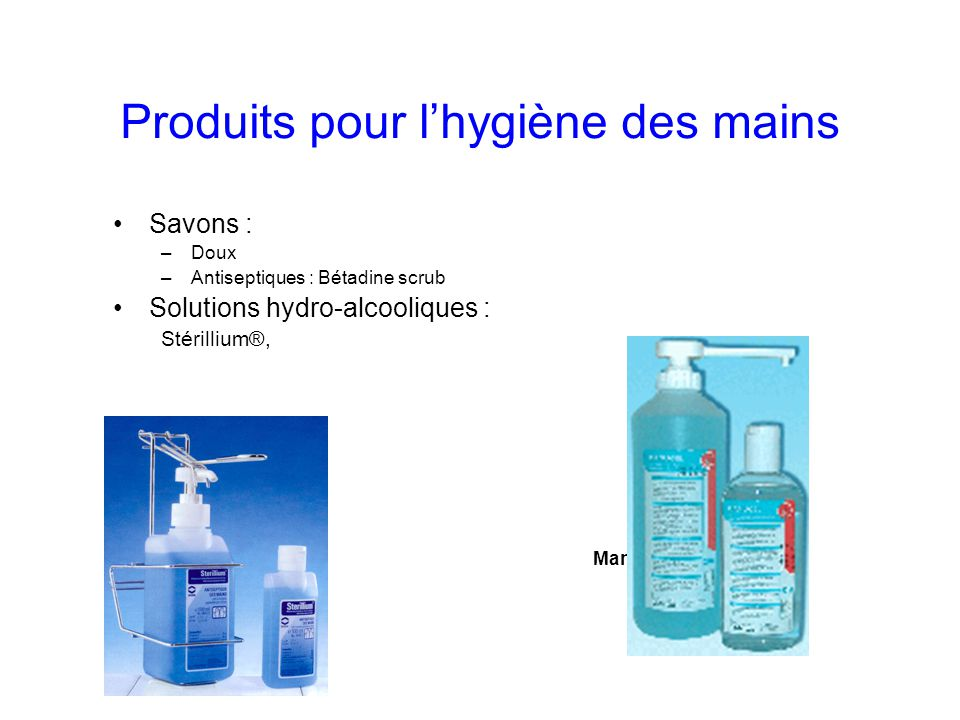 Produits pour l'hygiène des mains