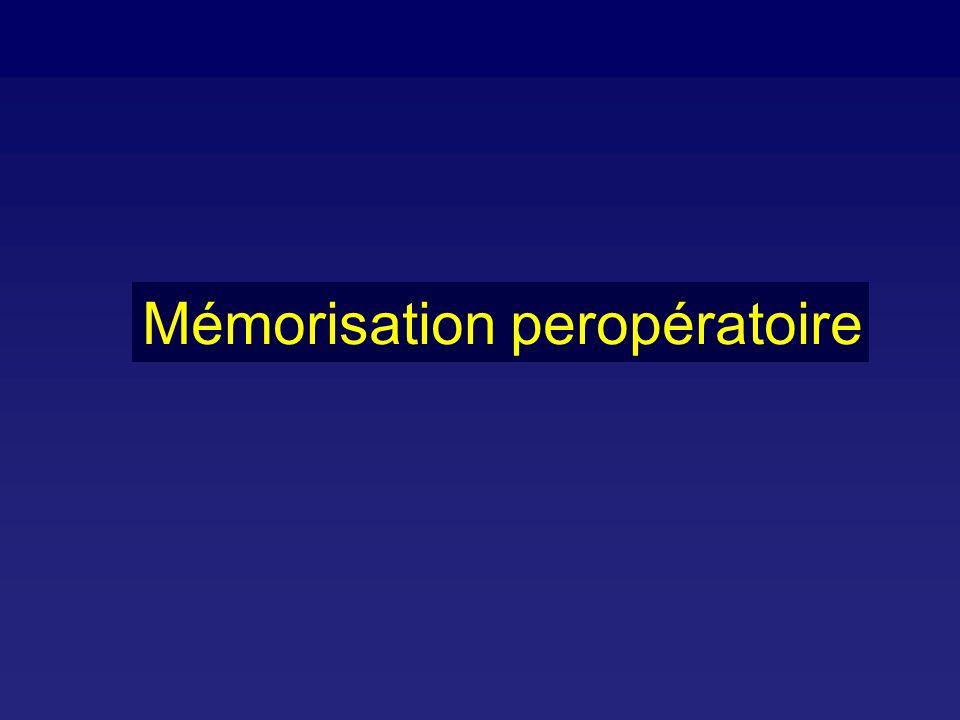 Mémorisation peropératoire