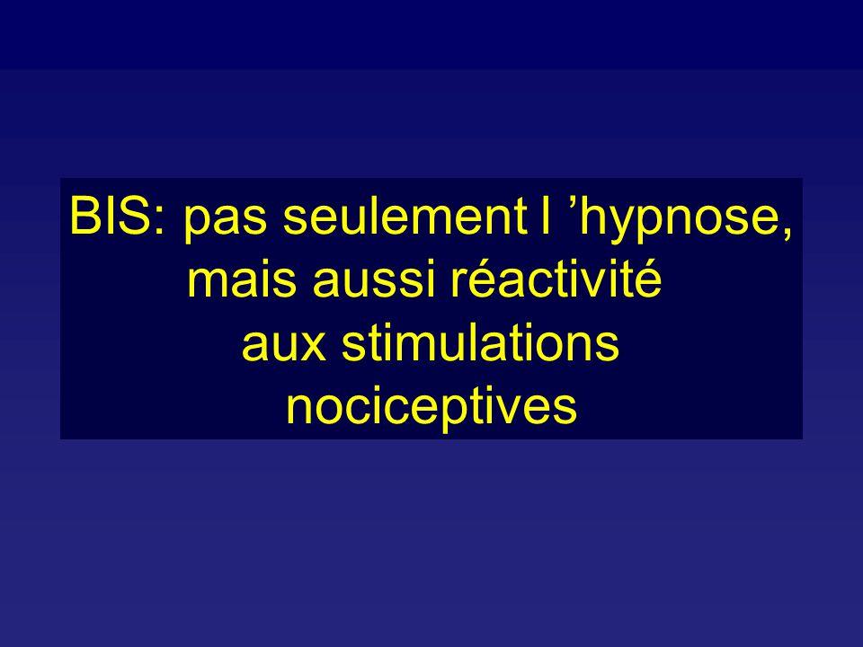 BIS: pas seulement l 'hypnose,