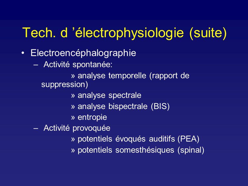 Tech. d 'électrophysiologie (suite)