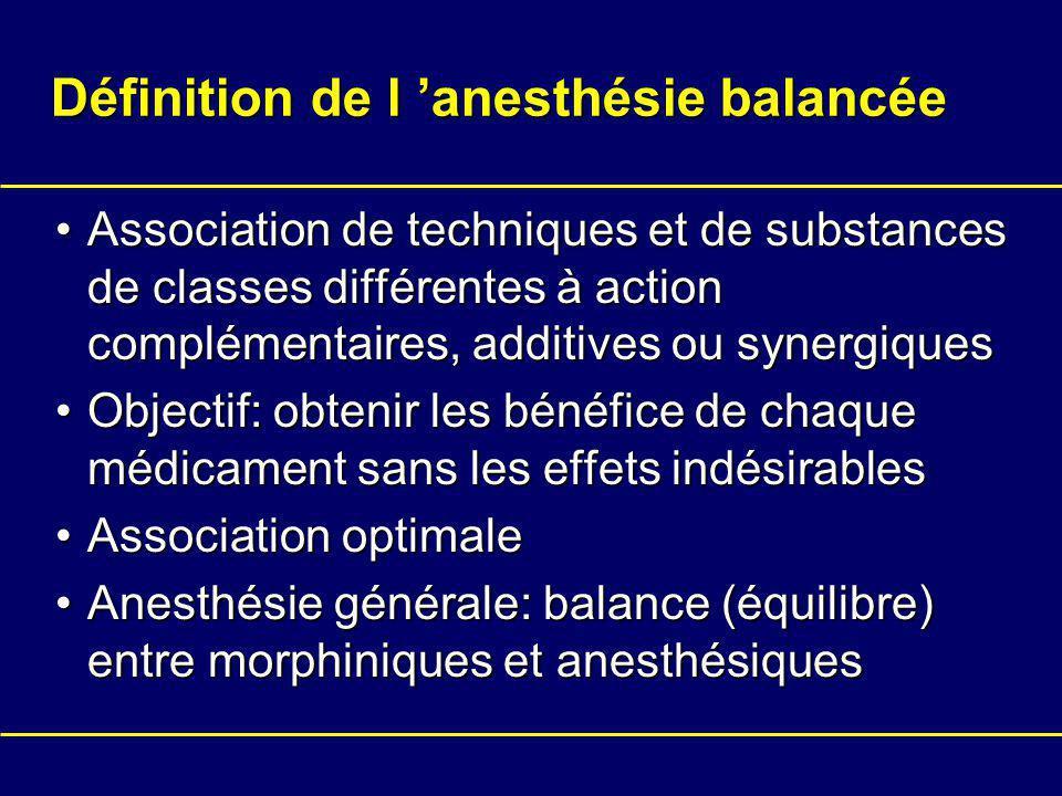 Définition de l 'anesthésie balancée
