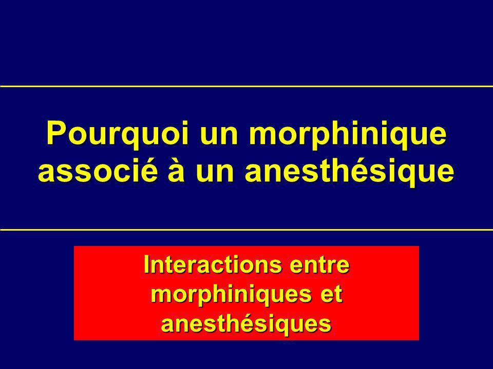 Pourquoi un morphinique associé à un anesthésique
