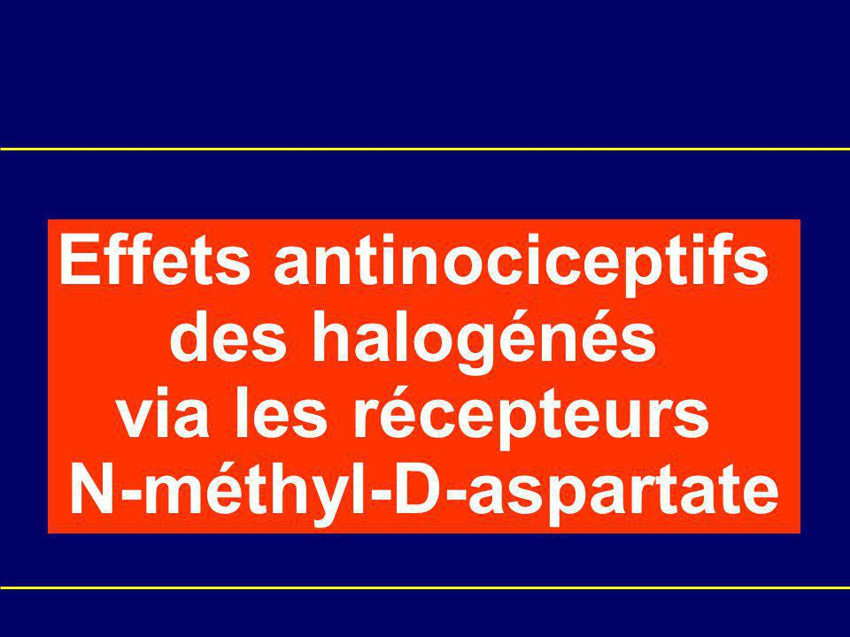 Effets antinociceptifs N-méthyl-D-aspartate