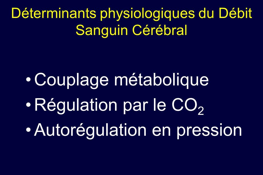 Déterminants physiologiques du Débit Sanguin Cérébral