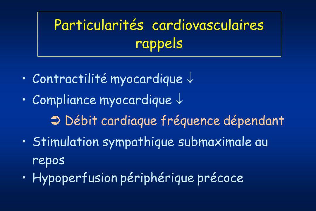 Particularités cardiovasculaires rappels